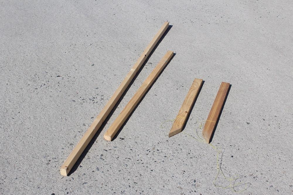 DIYフェンスの支え棒