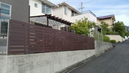 目隠しフェンスの設置事例