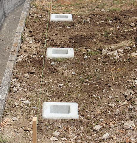 DIYで埋め込みタイプのフェンスを設置