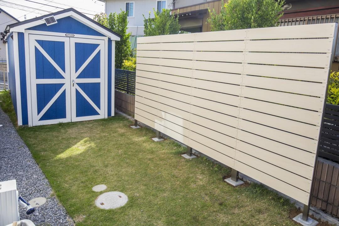 DIYの目隠しフェンスで快適なお庭づくり