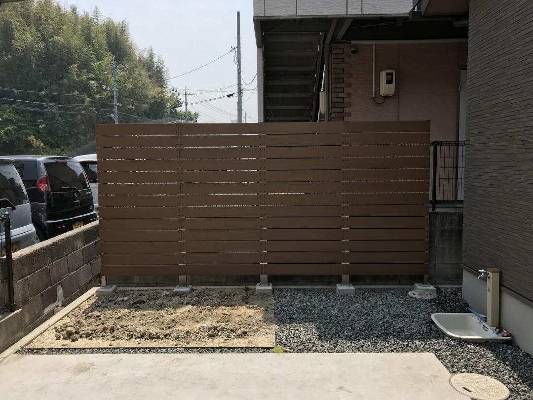 施工後の高さ180cmのフェンス