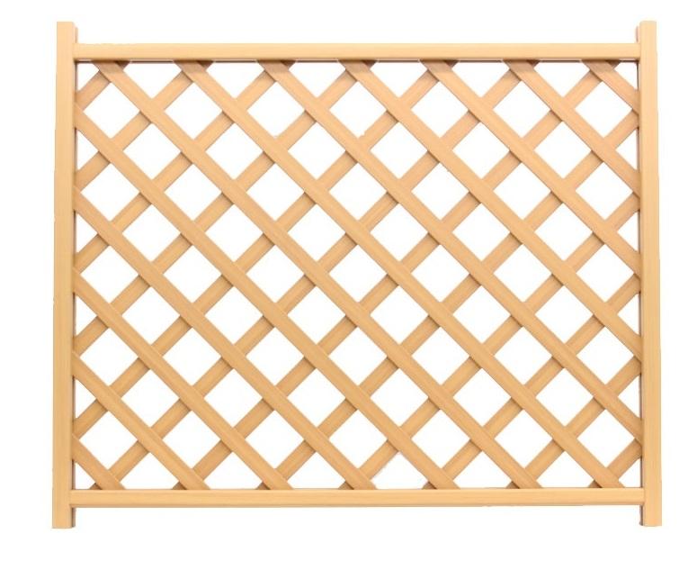 木調樹脂ラティスフェンス