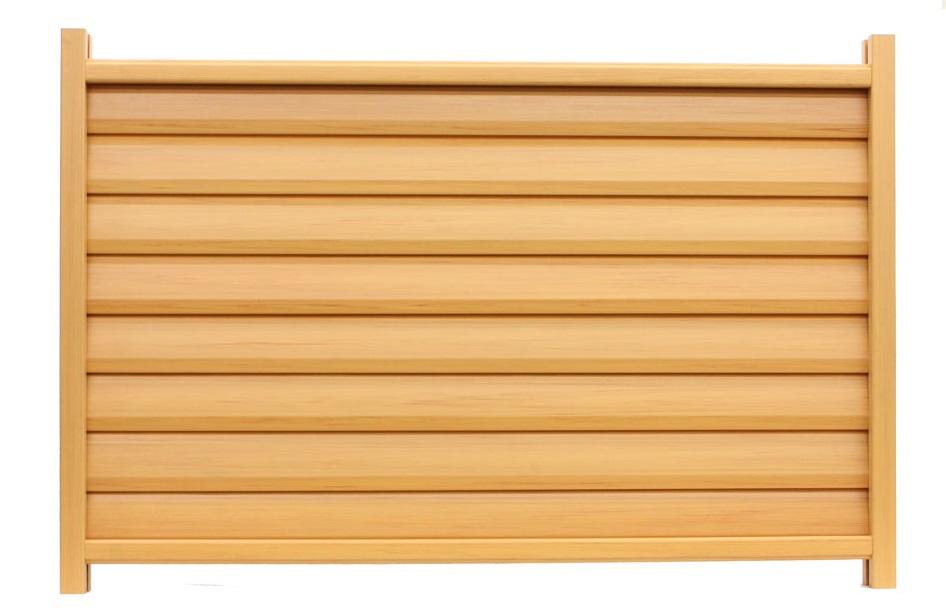 木調樹脂ルーバーフェンス