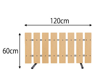 スタンド式フェンス 幅90cm 高さ60cm