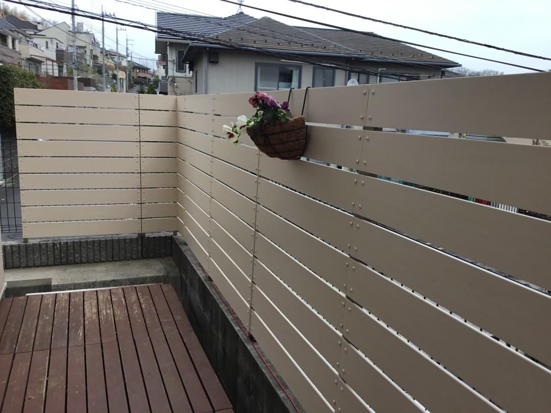 樹脂製フェンスはコスパ良しなんです