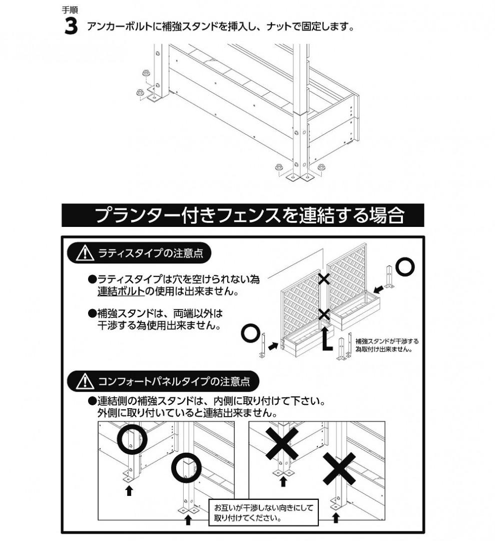 補強スタンド コンクリート用アンカー止めセット使い方3