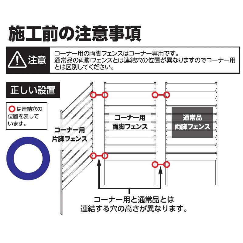 DIYコンフォートフェンスコーナー用3点セットの施工の注意点1