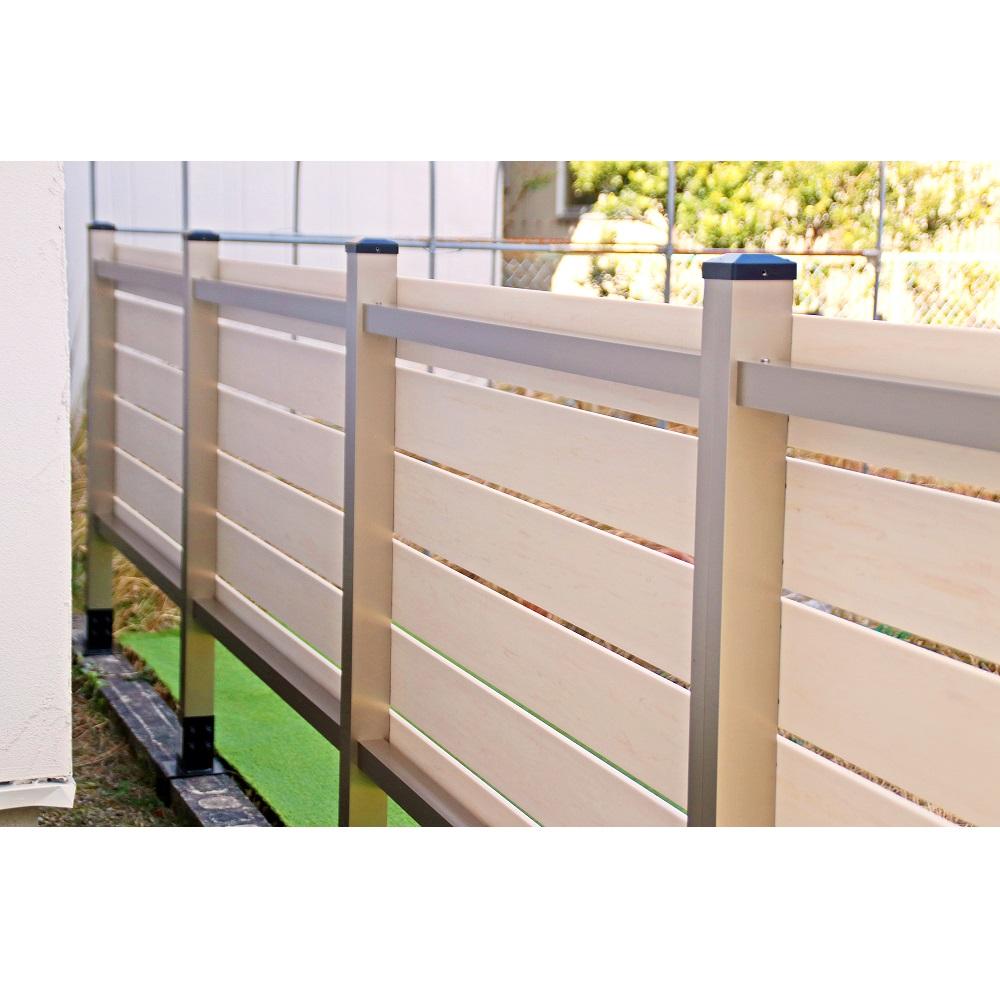 ブロック用フェンス ボーダー板間隔1cm高さ110cm幅120cmの裏側
