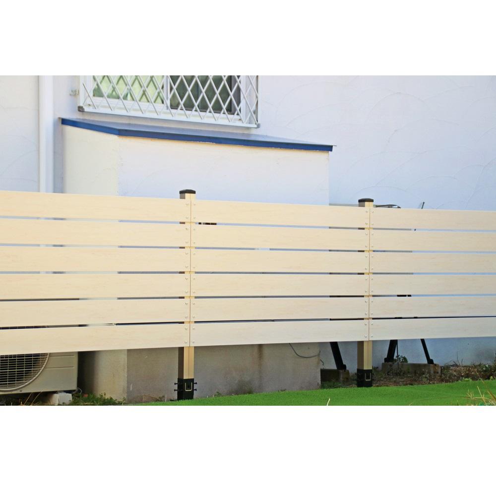 ブロック用フェンス ボーダー板間隔1cm高さ110cm幅120cmの設置事例
