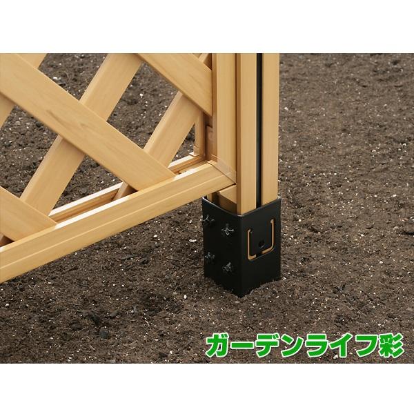ウッディプラフェンス (ラティス)用支柱専用地中杭の使用イメージ