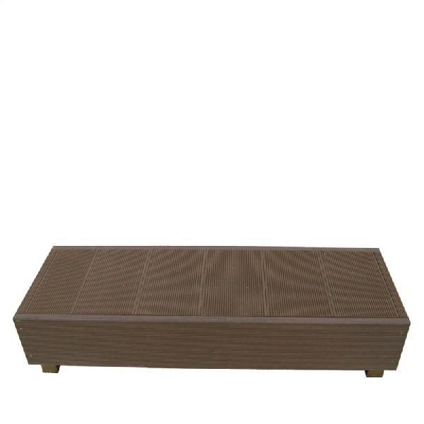 ウッドデッキ調樹脂デッキ7点セット ステップ単品ダークブラウン
