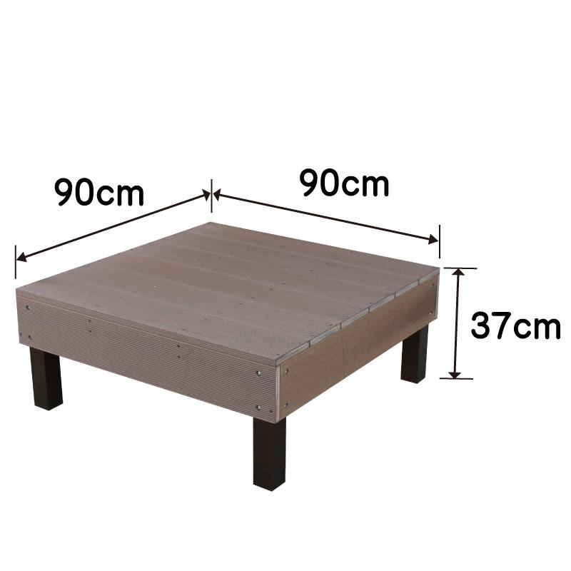 ウッドデッキ調樹脂製デッキサイズ詳細