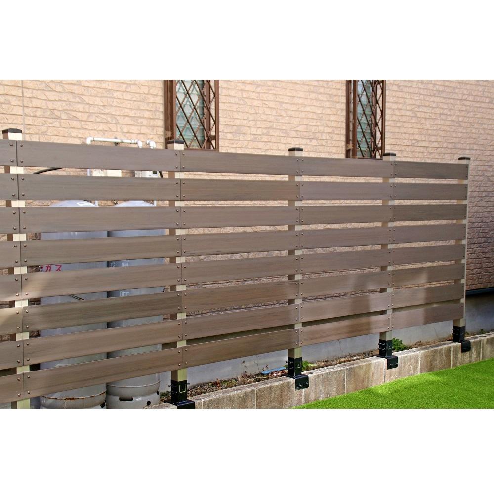 ブロック用フェンス ボーダー板間隔3cm高さ140cm幅90cmの設置事例