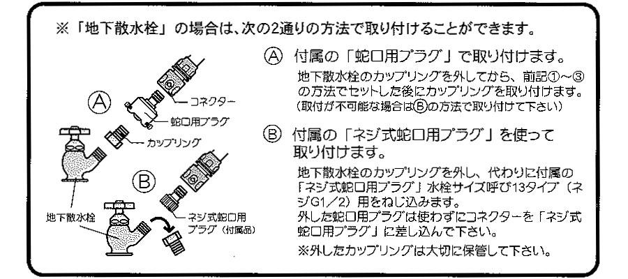 ブロンズリール 三洋化成 BR4-XT20GO(グリーン)  ホースリールの使い方2
