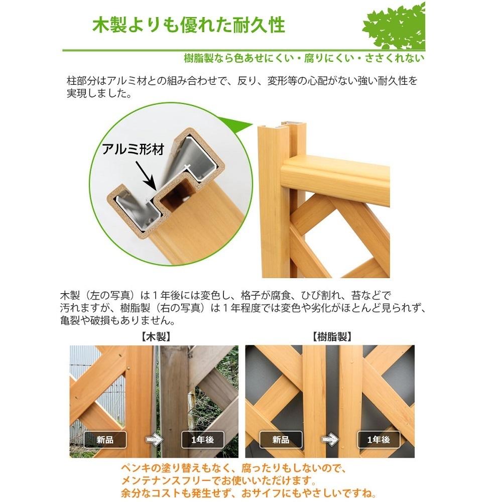 木調樹脂ラティスフェンス耐久性