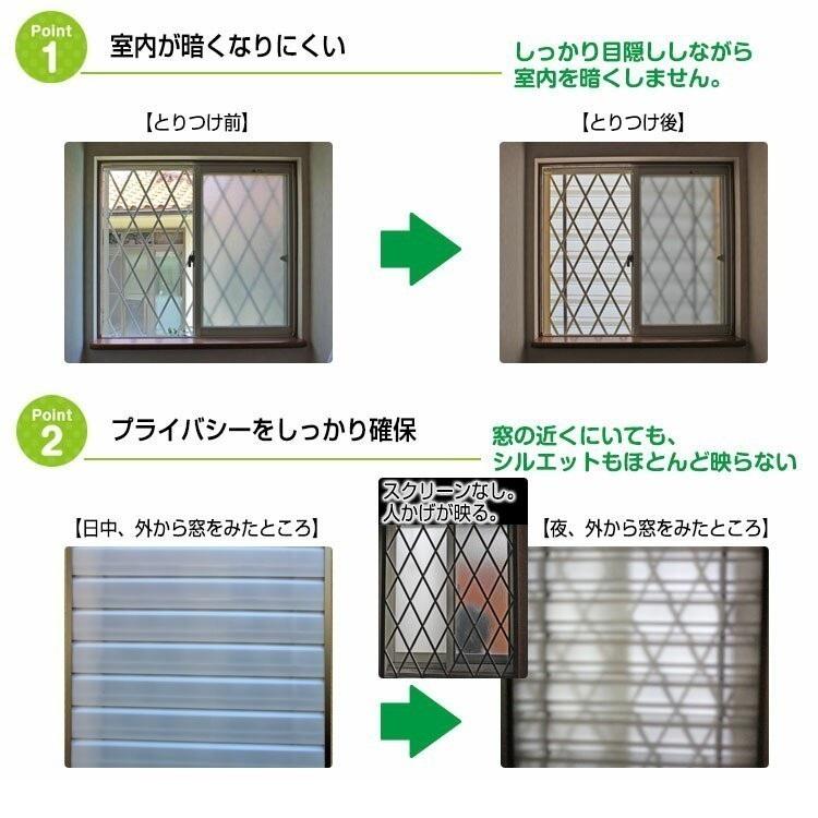 窓格子用目隠しスクリーンパネルのおすすめポイント2