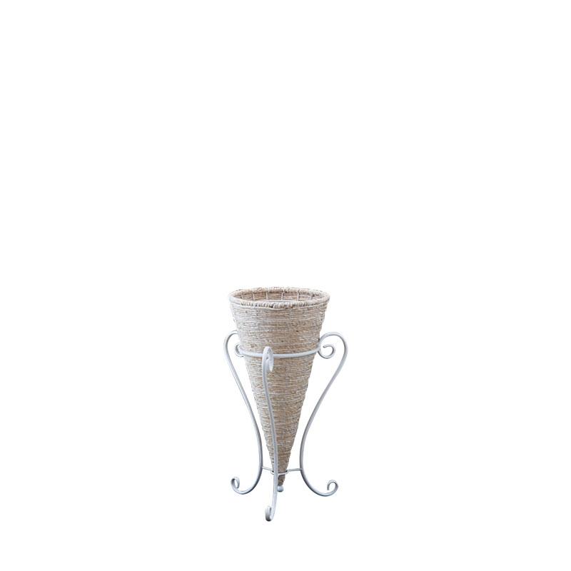 メイズ&アイアン フラワースタンド 高さ60cm ホワイト